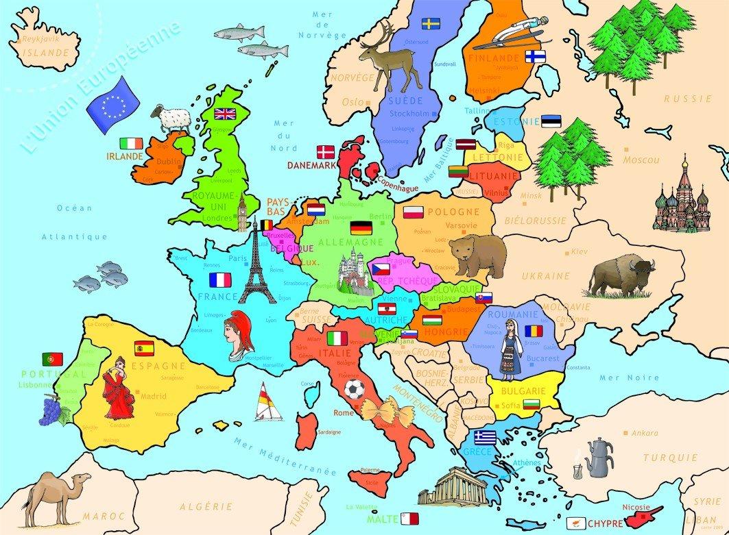 Dessin Carte D Europe | casamagenta
