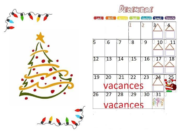 calendrier decembre 2016